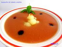 Gazpacho de tomate y melón