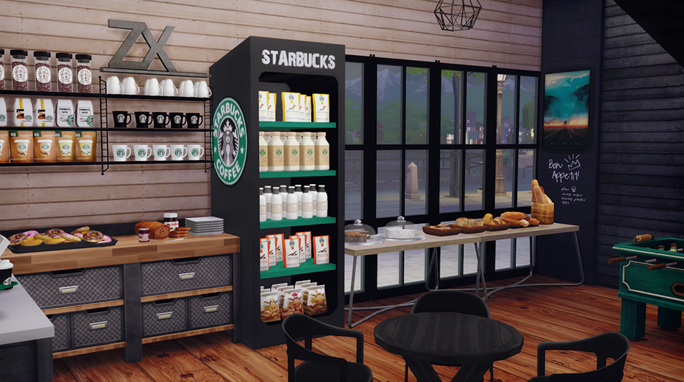 My Sims 4 Blog Starbucks Coffee Shop Lot And Objects By Dreamteamsims
