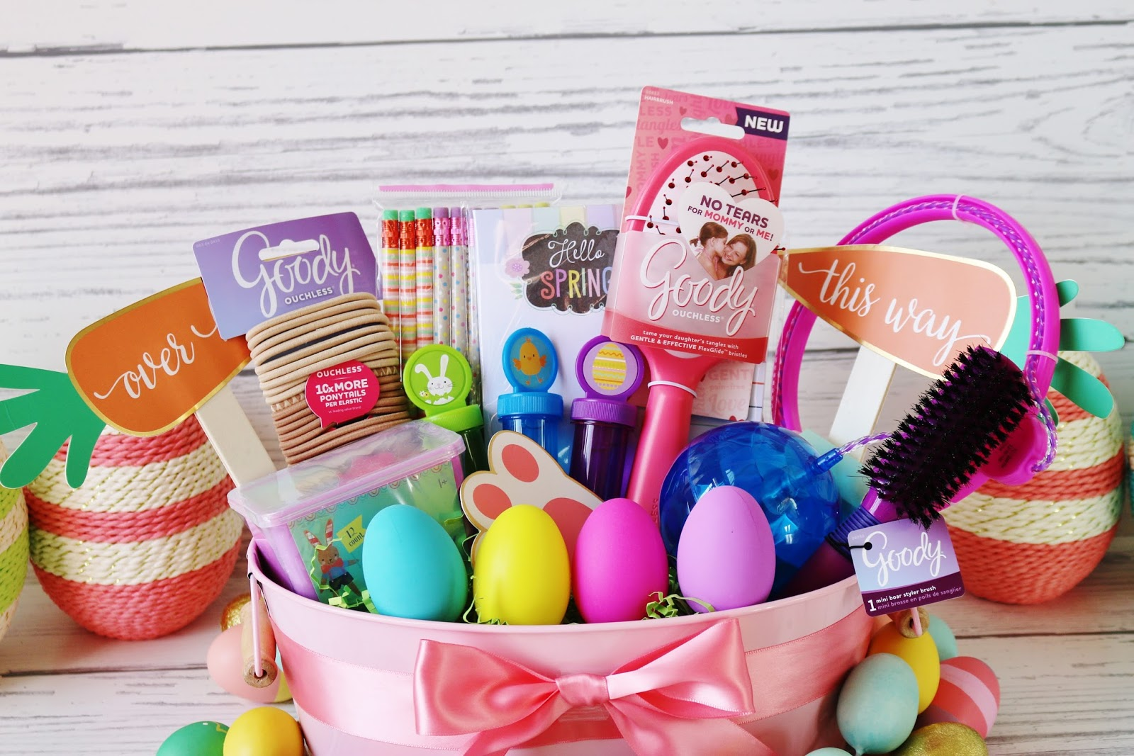 My simple modest chic fun festive easter basket tutorial i figured my girls would get plenty of treats on easter so i opted for a non edible easter basket if you follow me on instagram you know i had a little negle Choice Image