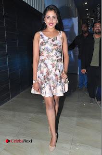 Actress Madhu Shalini Stills in Floral Short Dress at RGV Shiva to Vangaveeti Event  0188.JPG