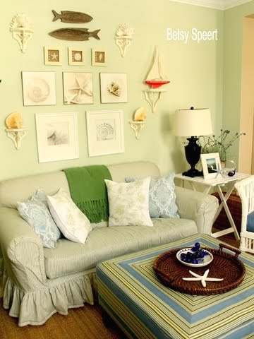 green decorating living room