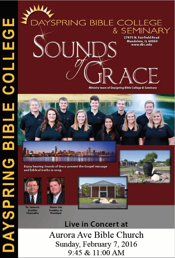 Sounds of Grace Coming February 7