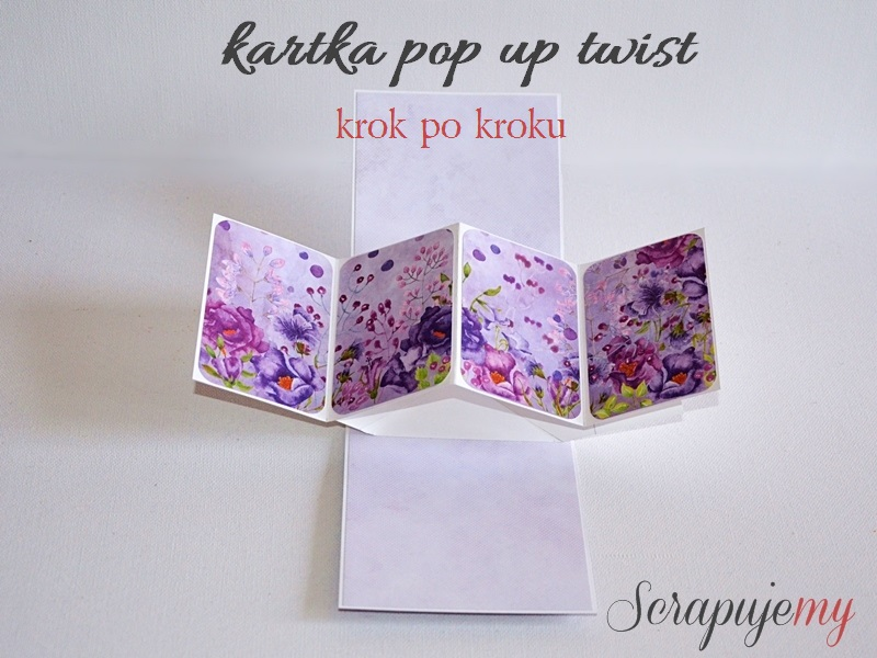 pop up twist card, pop up twist krok po kroku, jak zrobić pop up twist, kartka z wyskakującą harmonijką, pop up twist DIY