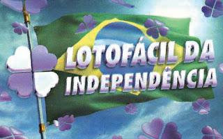 LotoFácil de Independência 2017 Prêmio de 85 Milhões