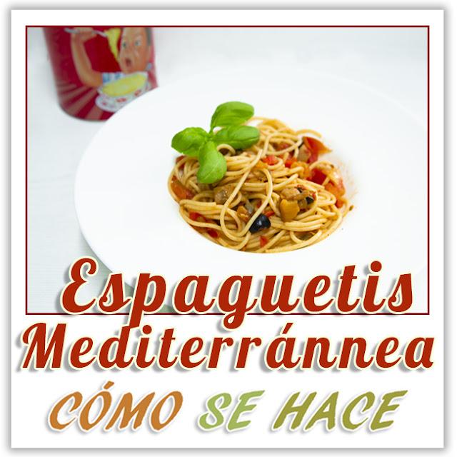 Espaguetis a la mediterránea