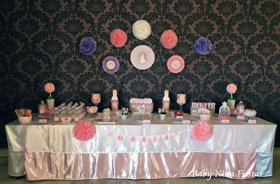 mesa dulce comunion niña