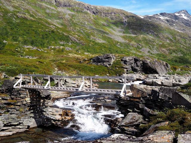 Storutladalen, most, řeka, příroda, Jotunheimen, Norsko