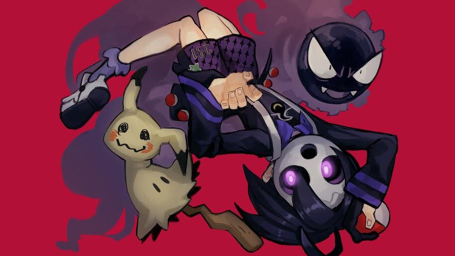 Gastly, Mimikyu, Allister, Pokemon Sword and Shield, Gym Leader, 4K, #3.1372