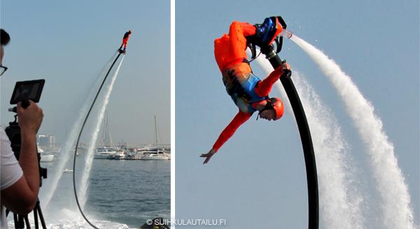 flyboard, flyboarding, hydroflight, suihkulautailu