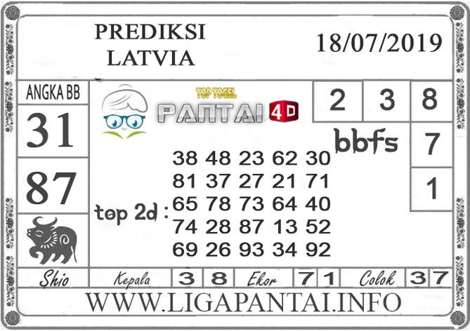 """PREDIKSI TOGEL """"LATVIA"""" PANTAI4D 18 JULI 2019"""