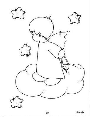 Desenhos Bebes Anjos Para Colorir Atividades Pedagogicas