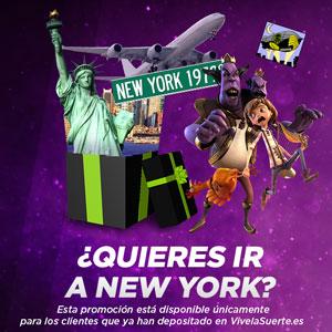 VivelaSuerte sorteo 10000 euros y Viaje a Nueva York 2-8 octubre