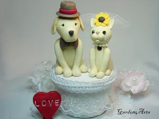 Unique and Cute Pet Wedding Cake Toppers