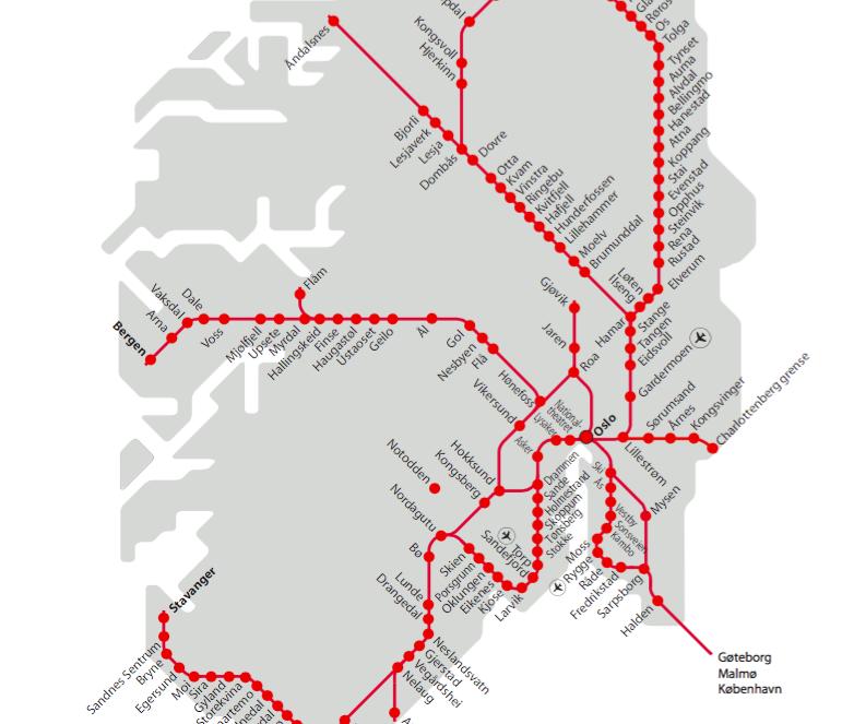 Miss HappyFeet Reasons You Should Rent A Car In Norway - Norway map railway