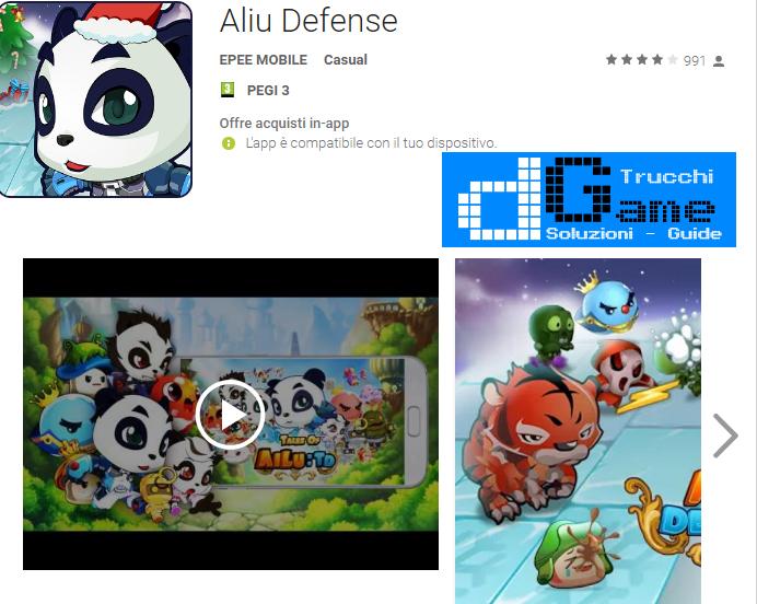 Trucchi Aliu Defense Mod Apk Android