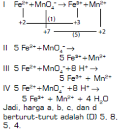 contoh soal essay kimia reaksi redoks