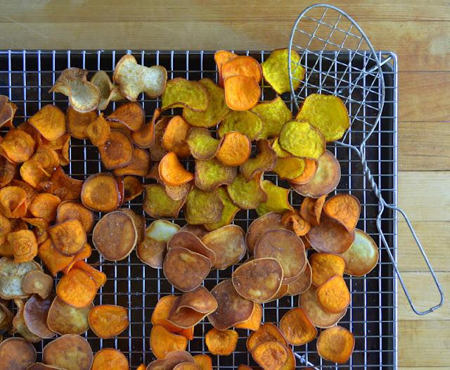 Homemade Root Veggie Kettle Chips