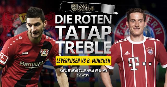 Prediksi Bayer Leverkusen Vs Bayern Munchen, Rabu 18 April 2018 Pukul 01.45 WIB