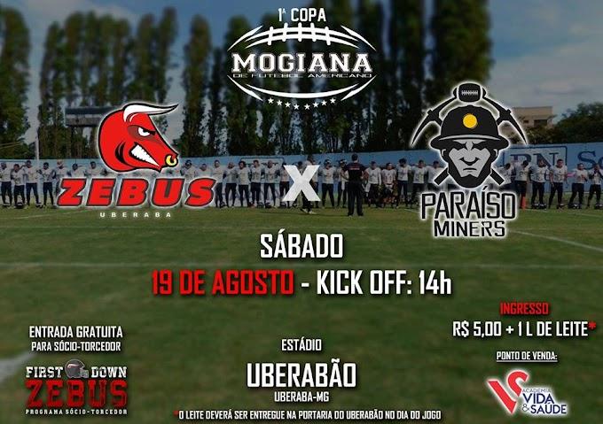 Uberaba Zebus estreia contra o Paraíso Miners pela Copa Mogiana