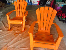 Wonderfully Complex Painting Plastic Outdoor Chairs