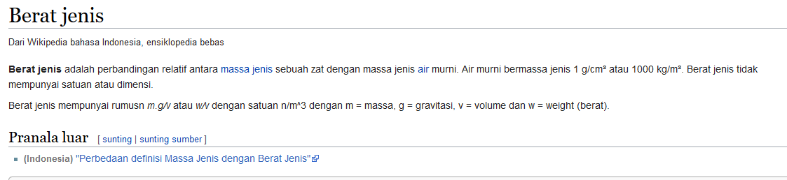 wiki - Beda Berat Jenis Dan Massa Jenis