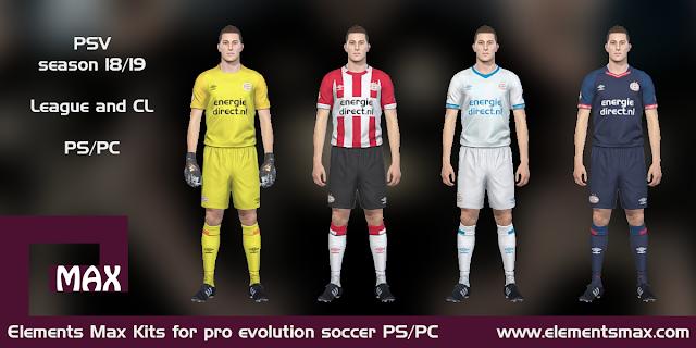 PSV Eindhoven 18/19 kits pes