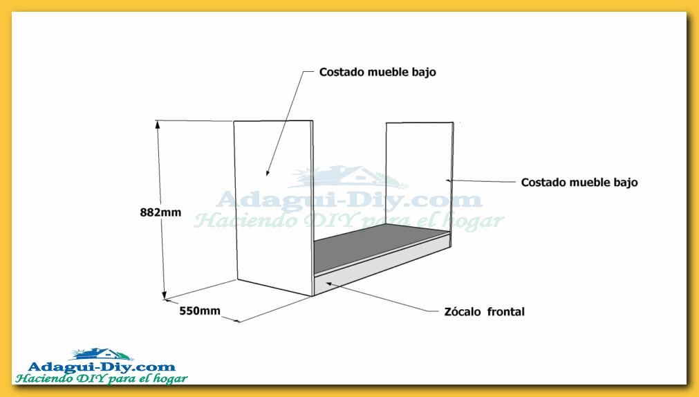 Como hacer muebles de cocina plano mueble bajo mesada de for Planos de cocinas 4x4