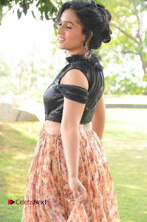 Actress Chetana Uttej Stills in Floral Long Skirt at Pichiga Nachav Movie Press Meet  0032.JPG