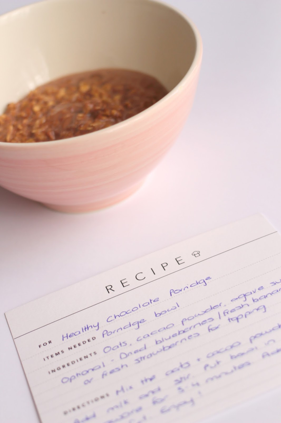 Healthy Chocolate Porridge Recipe
