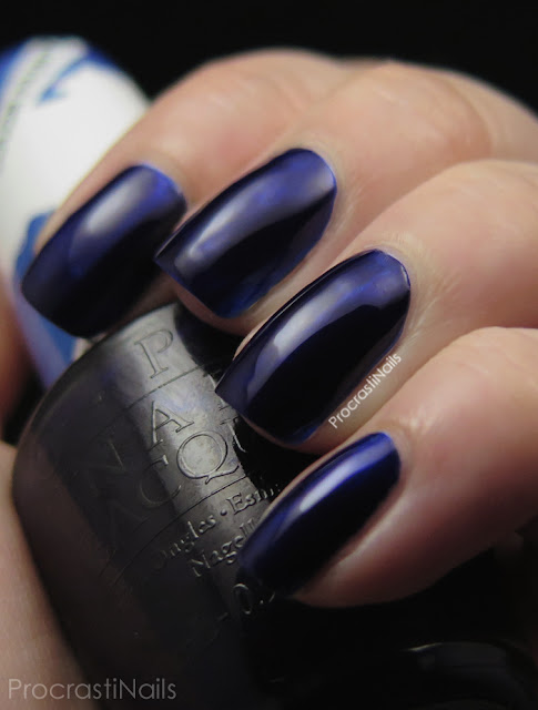 Swatch of OPI Indigo Motif from the 2015 Color Paints Collection