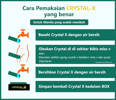 cara pemakaian crystall x