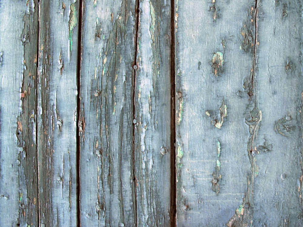 Rustic painted wood