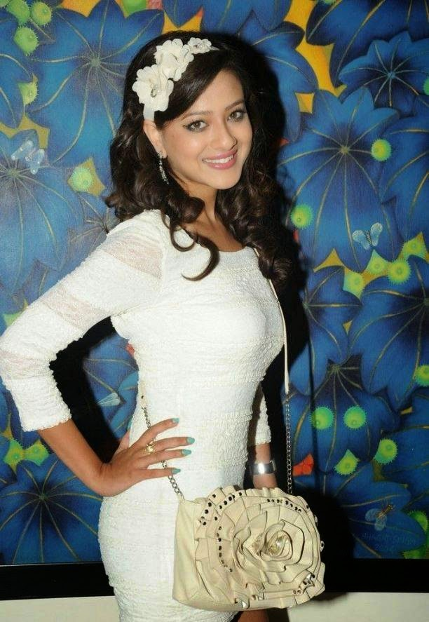 , Actress Madalasa Sharma White tight Dress Hot Photos