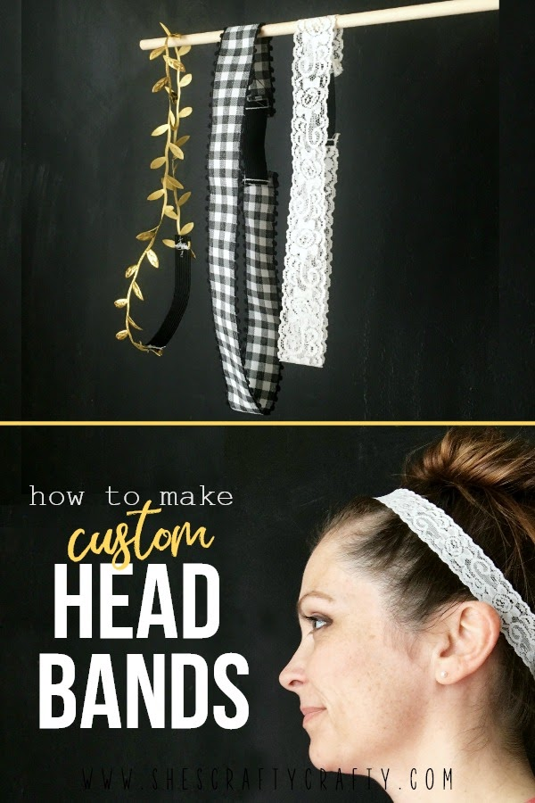 How to Make a Custom Headband in any size with any ribbon