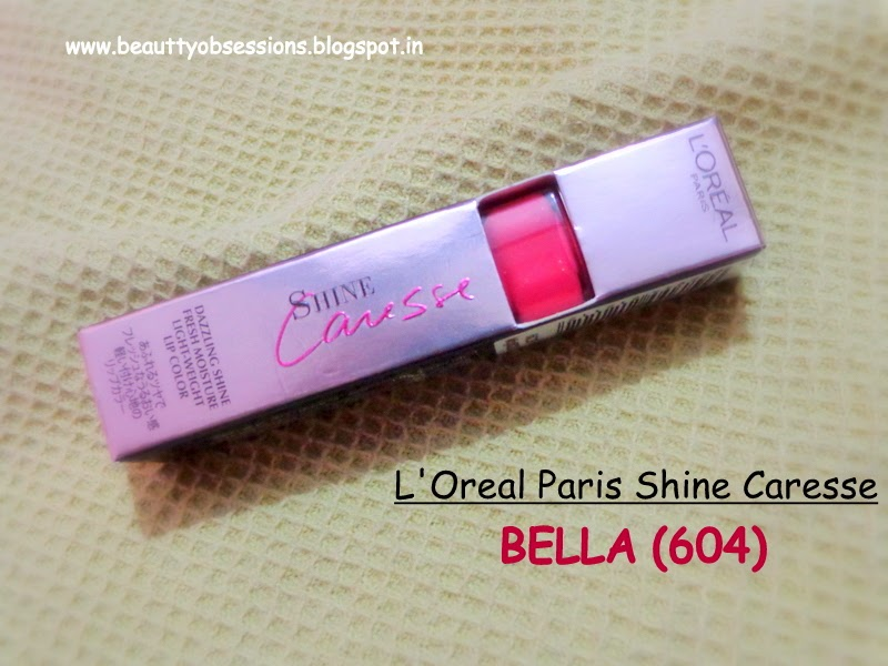 L'Oreal Paris Shine Caresse Lip Color (604) Bella ~ Review, Swatch & LOTD