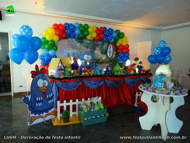 Decoração Galinha Pintadinha - Mesa decorada - Festa infantil - Tradicional luxo