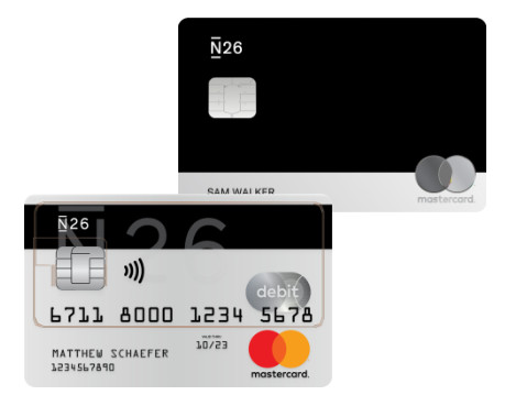 n26 black débito dinheiro banco online