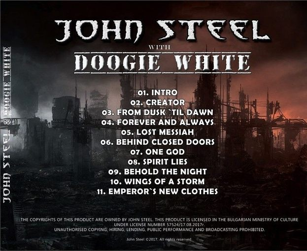 JOHN STEEL with DOOGIE WHITE - Everything Or Nothing (2017) back