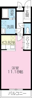徳島市 徳島大学 蔵本 徳島大学病院 パークレジデンス 賃貸 間取り 1K