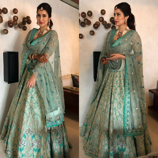 Sagarika Ghatge's Mehndi Night Look