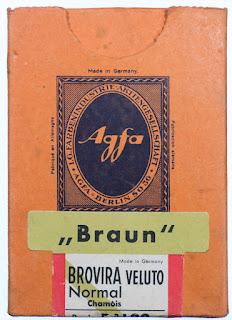 Schachtel für Agfa Brovira Foto-Papier - vor 1945