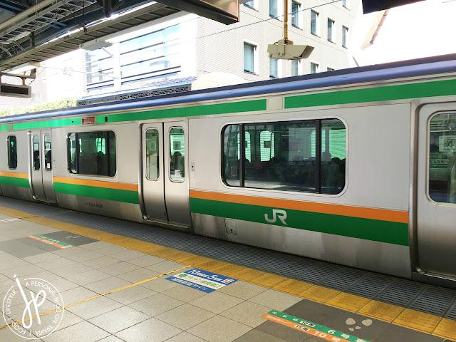 japan train and platform