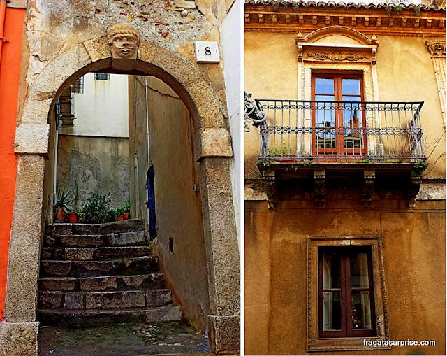 Fachadas do Centro Histórico de Taormina, Sicília