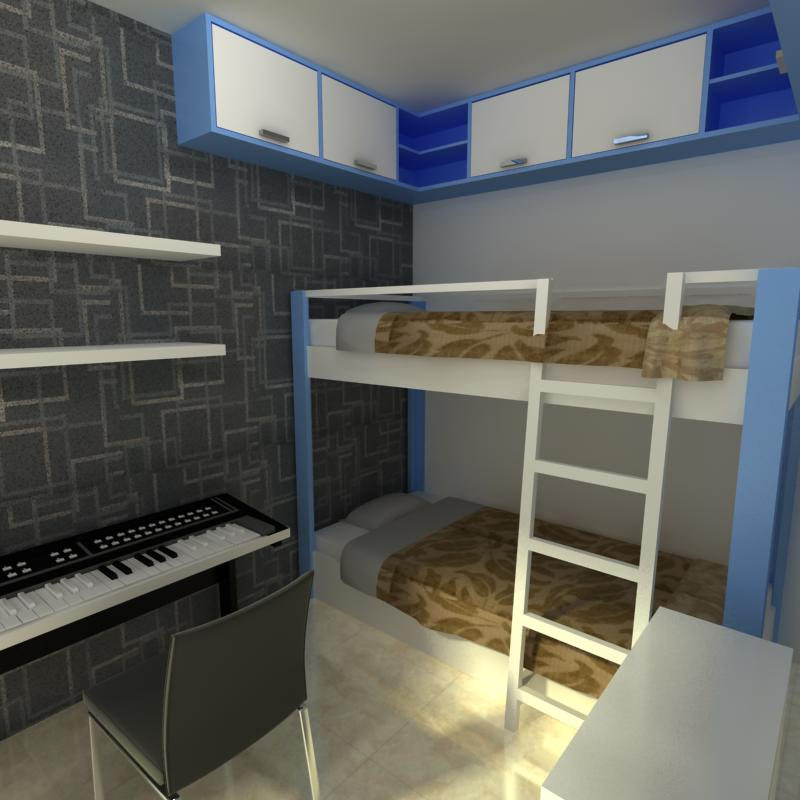 Model Interior Apartemen Kemayoran KAMAR ANAK APARTEMEN