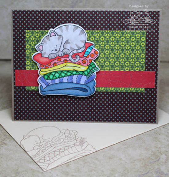 Danni's card features Newton's Naptime by Newton's Nook Designs; #newtonsnook