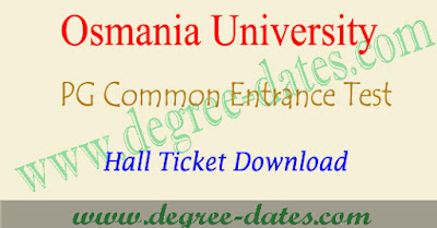 OUCET hall ticket download 2019 admit card ou pgcet results