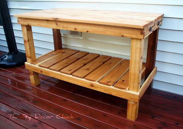 DIY potting bench