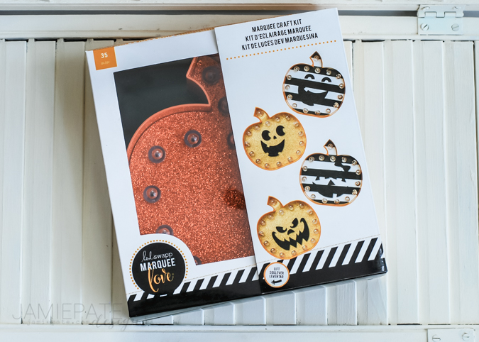 Marquee Love for Kids | Crafting with kids for Fall or Halloween is so fun and easy with these Heidi Swapp Marquee Love Kits.  @jamiepate