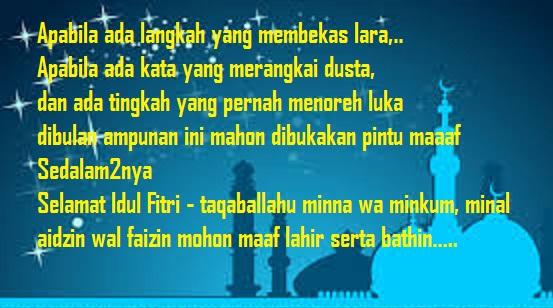 Contoh Sms Dan Ucapan Selamat Idul Fitri