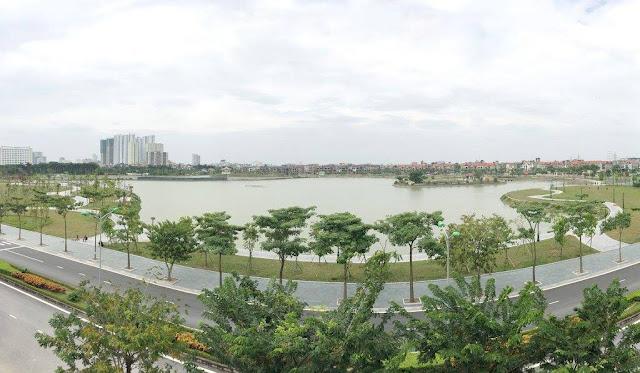 Hồ điều hòa An Bình City thành phố giao lưu